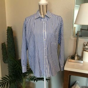 Vince Oversized Striped Button-down Top size 6